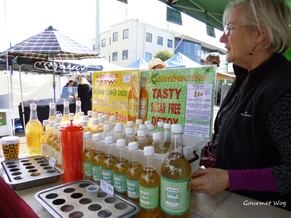Kombucha at the Frenchs Forest Organic Markets