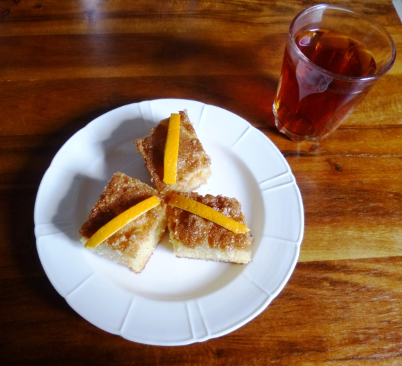 Basbousa/Revani Semolina Cake with Orange Syrup