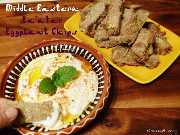 Middle Eastern Za'atar eggplant chips