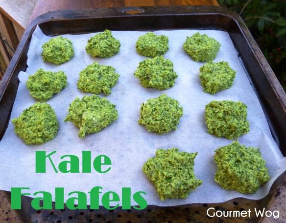 baked kale falafel