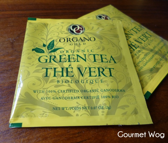 green tea with organic ganoderma
