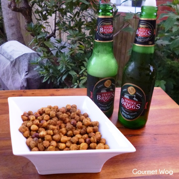 crunchy curry salty baked oven roasted chickpeas
